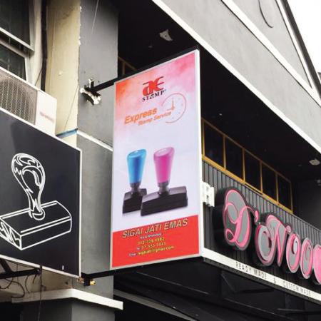 Shoplot Double Side Signboard